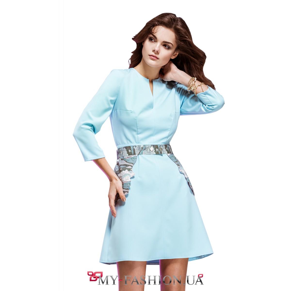 Что подойдет к платью небесно голубого цвета