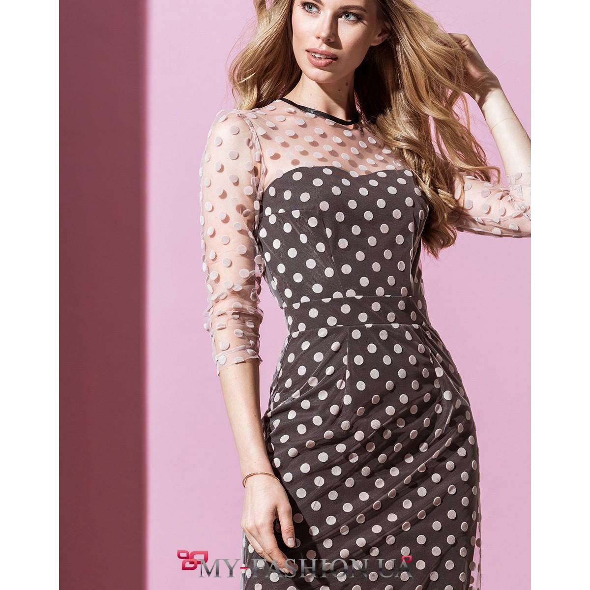 средней длины вечерние платья фото