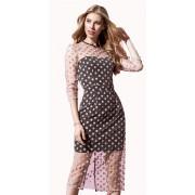 Двойное вечернее платье средней длины