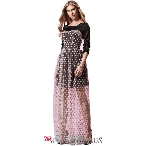 Дизайнерское вечернее платье максимальной длины