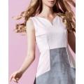 Замшевое пастельное платье-сарафан