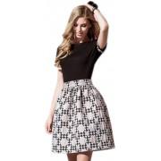 Комбинированное дизайнерское платье