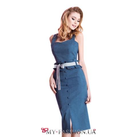 Джинсовая юбка  со съемным поясом