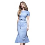 Роскошное платье воздушно - голубого цвета