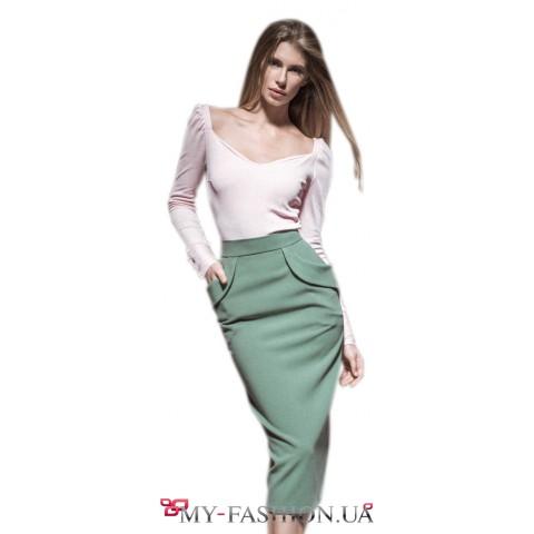Дизайнерская юбка облегающего стлуэта