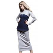 Платье-трансформер с джинсовой баской