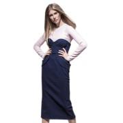Джинсовая юбка-карандаш с объёмными карманами