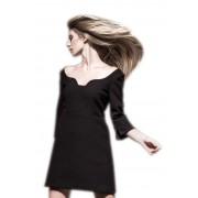 Красивое черное платье мини длины