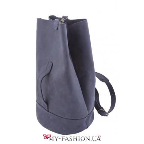 Стильный кожаный рюкзак на одну шлейку