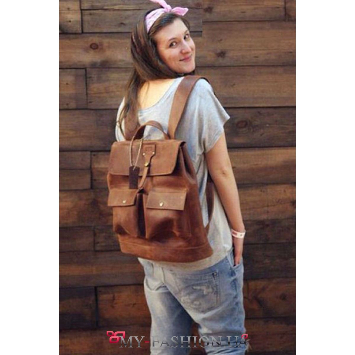 93a49e5617fd Вместительный кожаный рюкзак на две шлейки купить в интернет ...