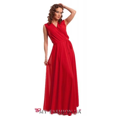 """""""Мак"""" красное выпускное платье в пол"""