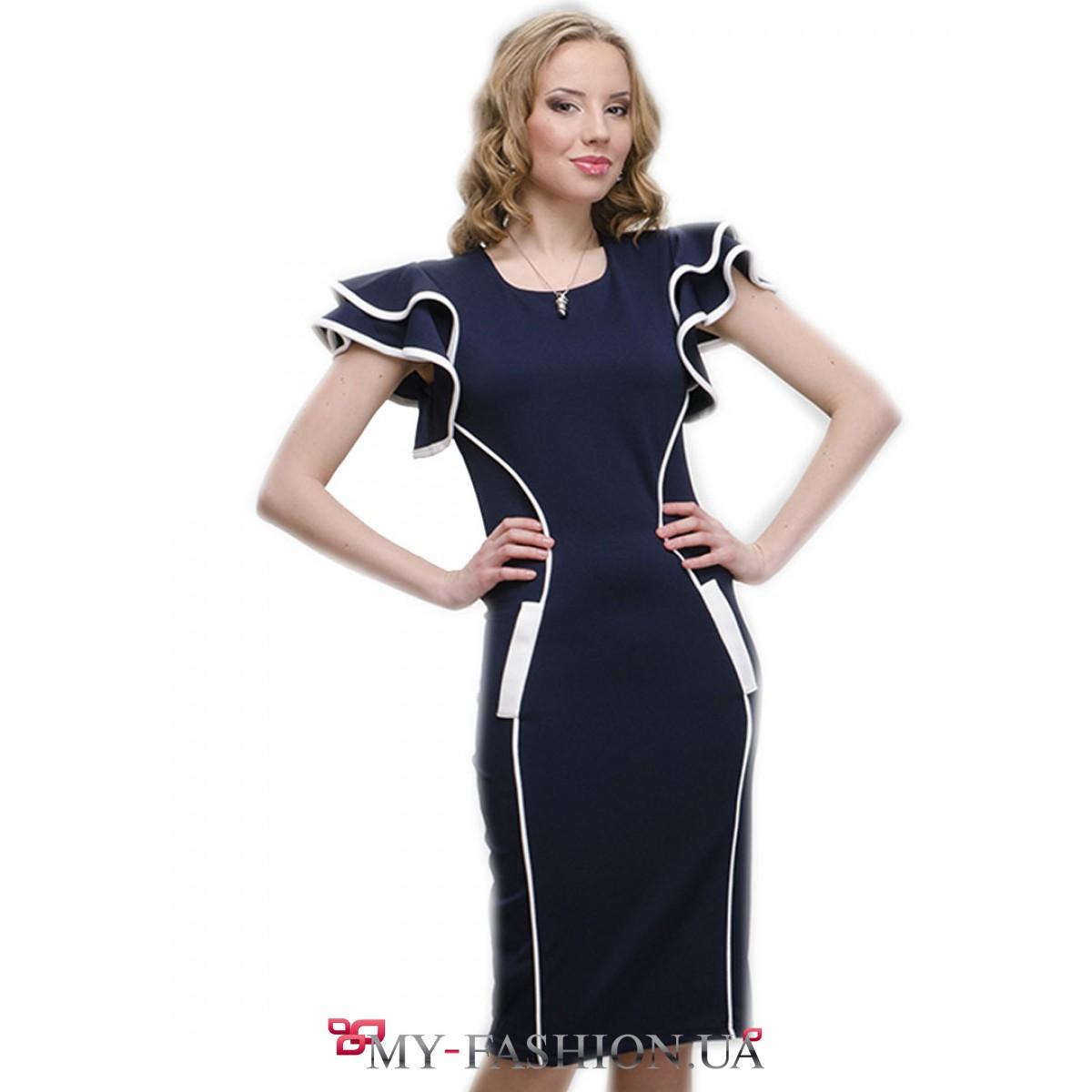 Платье с воланами доставка