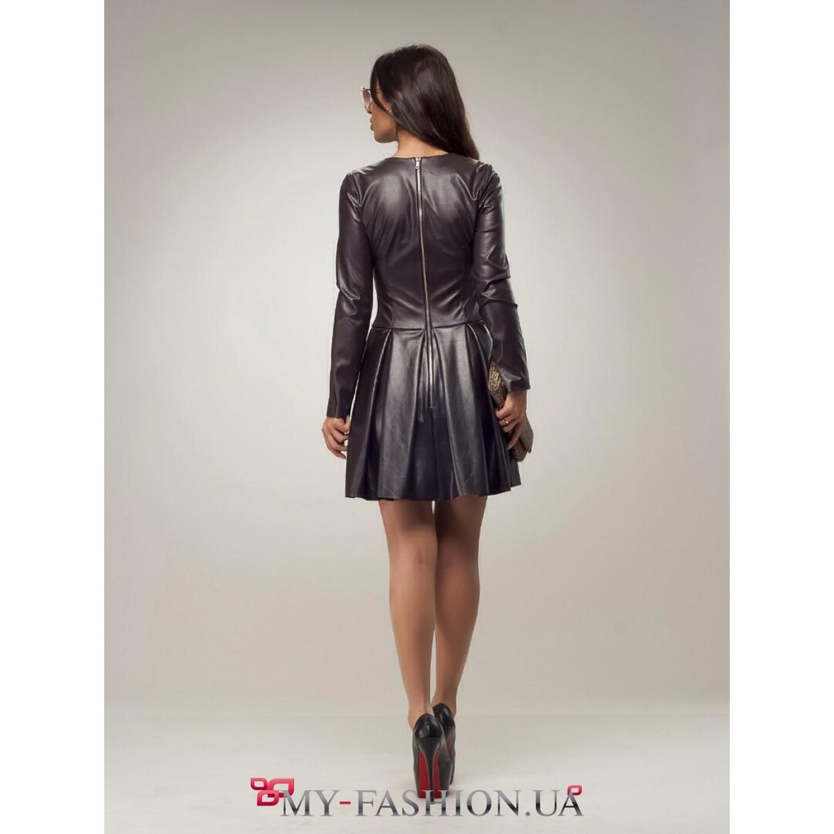 Купить Кожаное Платье В Интернет Магазине