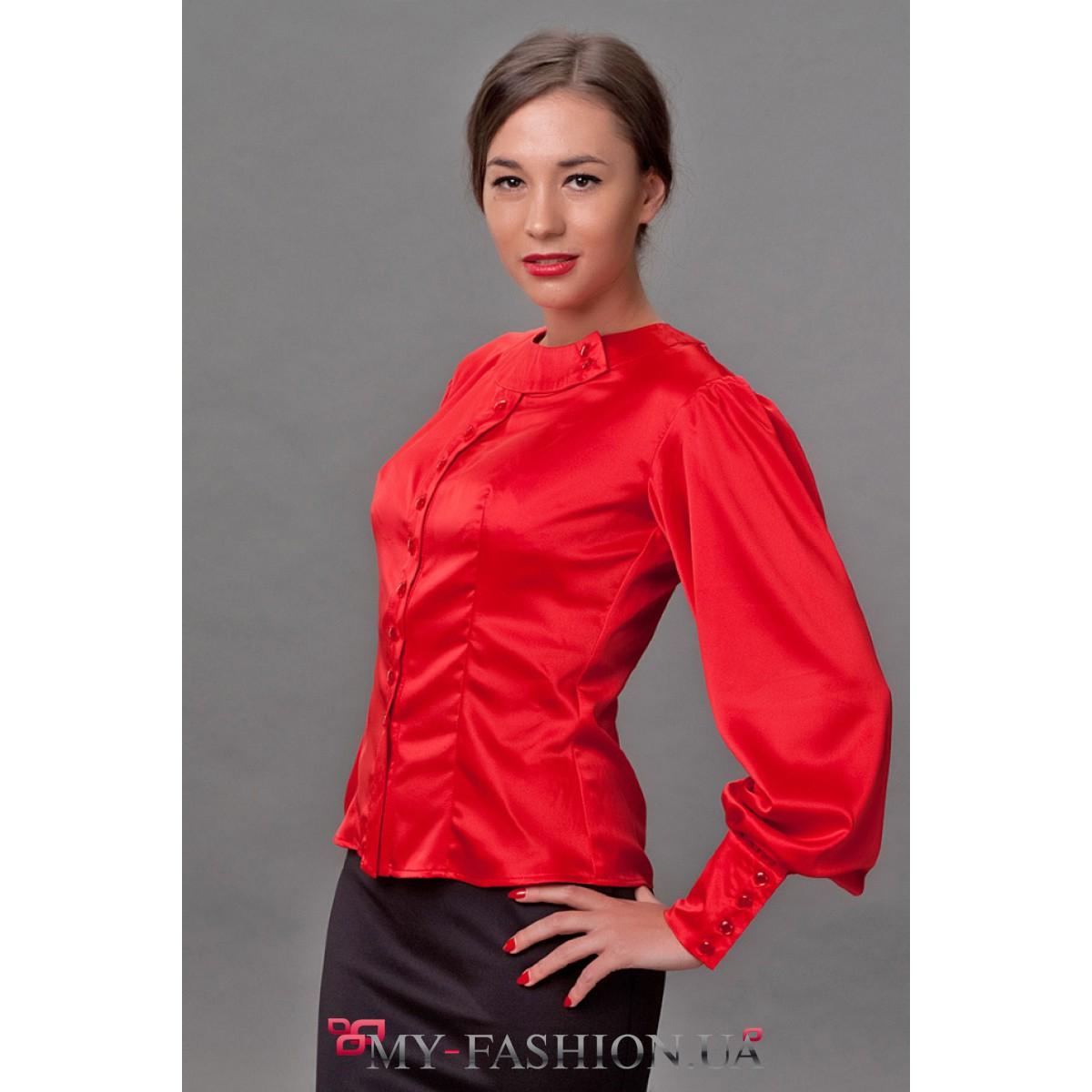 Модели блузок из атласа доставка