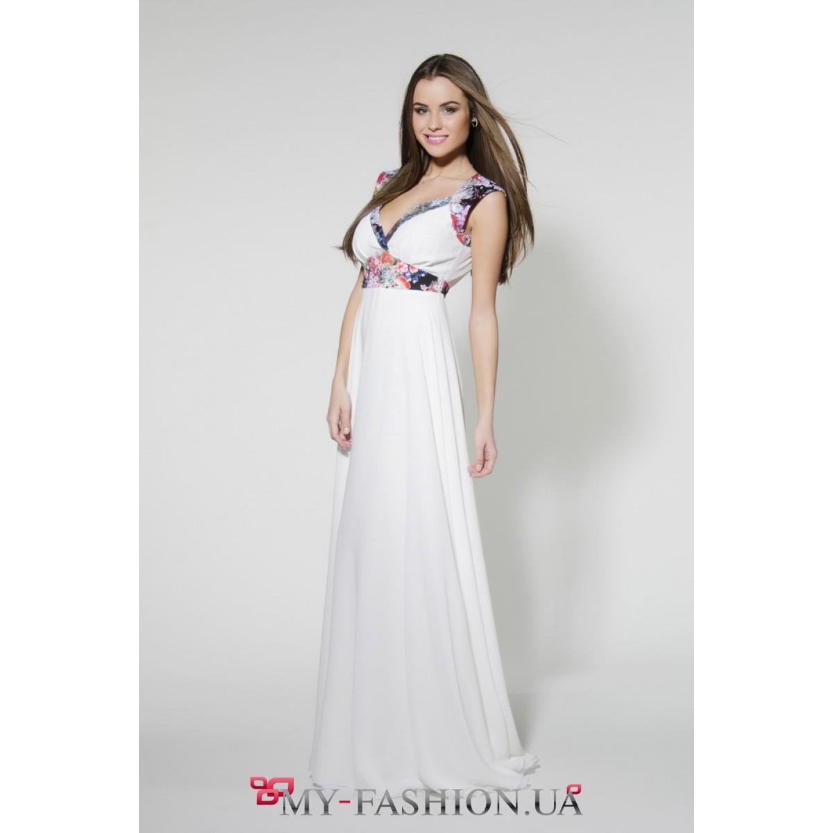Платье летнее с принтом 187