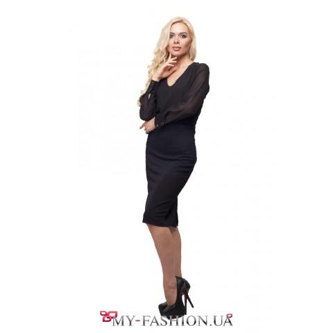 Элегантное чёрное платье для стильных леди