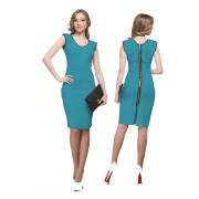 Голубое платье тандем комфорта и стиля