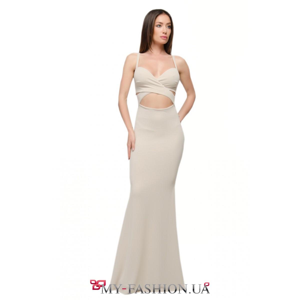Светлое вечернее платье купить