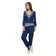 Женский спортивный костюм синего цвета