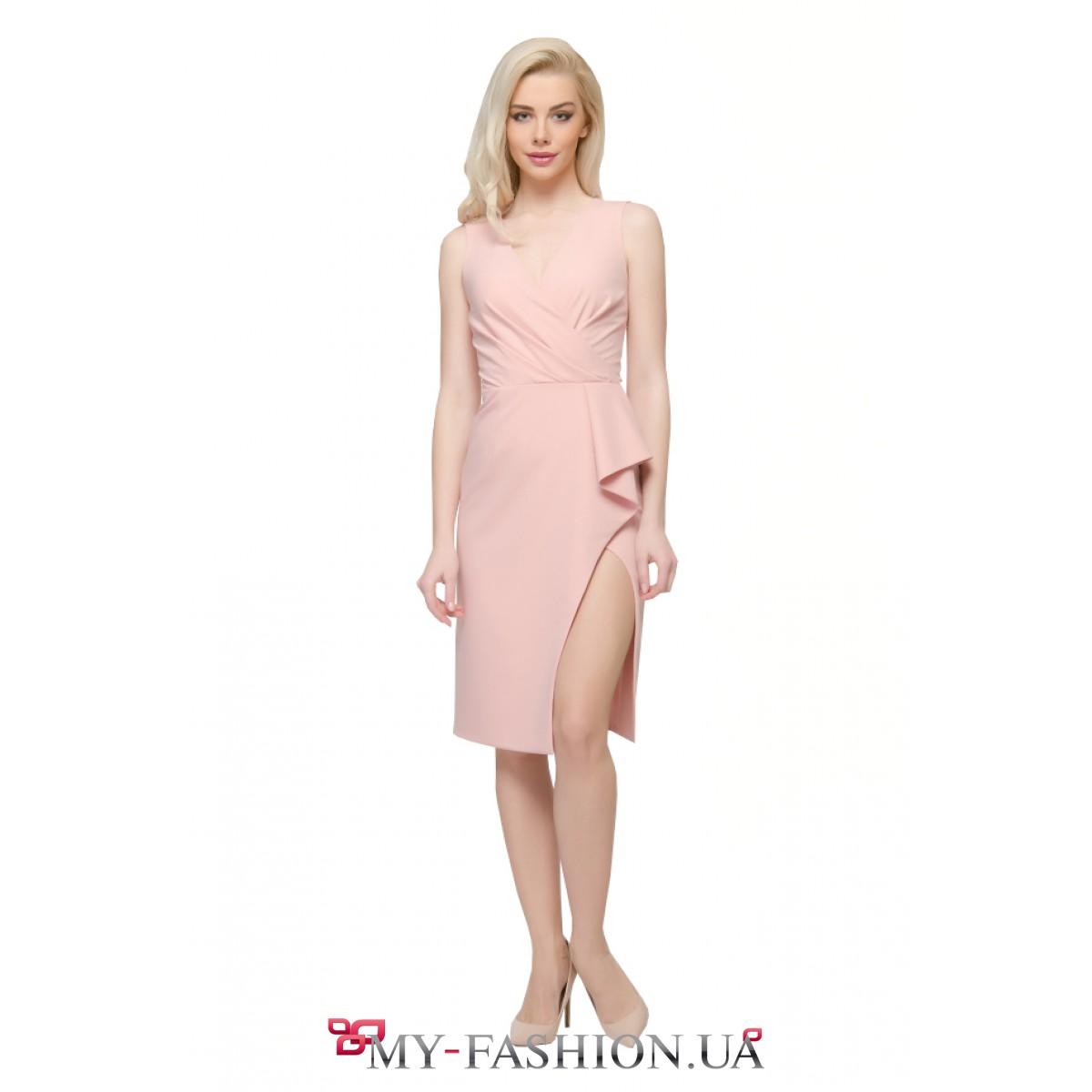 Платья коктейльные розового цвета