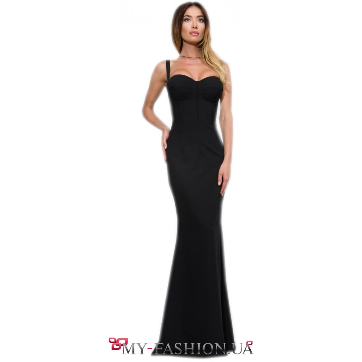 Купить вечернее чёрное платье в интернет магазине