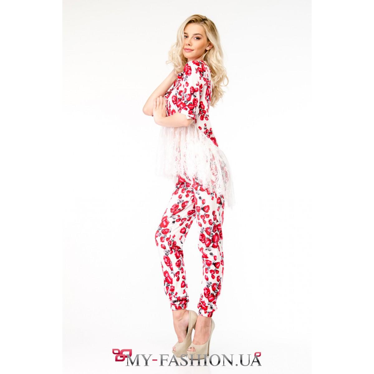 Женские костюмы с принтом