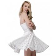 Роскошное короткое платье из кружевного полотна