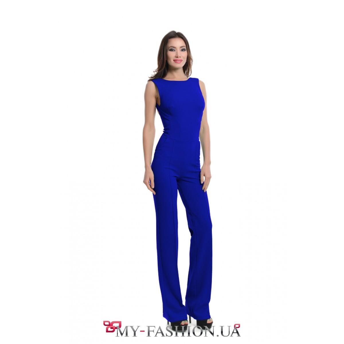 Синий комбинезон женский 32