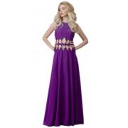 Длинное платье ярко-фиолетового цвета