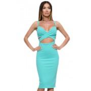 Привлекательное коктейльное платье мятного цвета