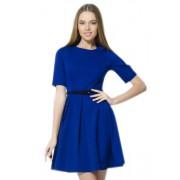 Привлекательное синее платье с короткими рукавами