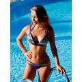 Раздельный купальник фиолетового цвета