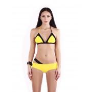 Жёлтый купальник асимметричного кроя