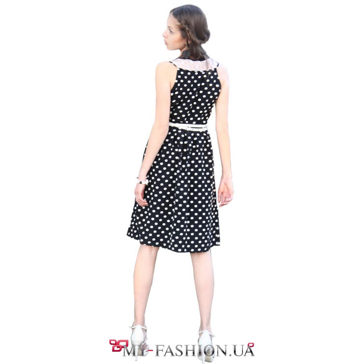 Платье черное белый воротник доставка