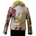 Яркая курточка с лисьим мехом