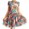 Короткое трикотажное платье с цветочным принтом