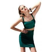 Стильный зелёный женский костюм