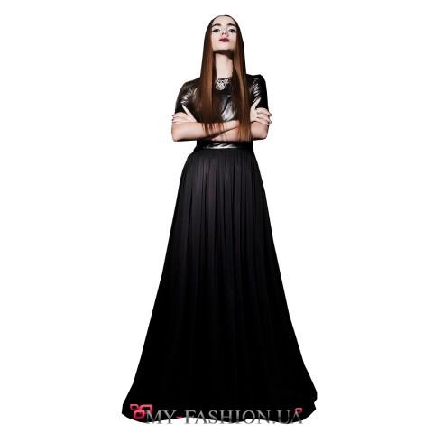 Завораживающее готическое платье в пол