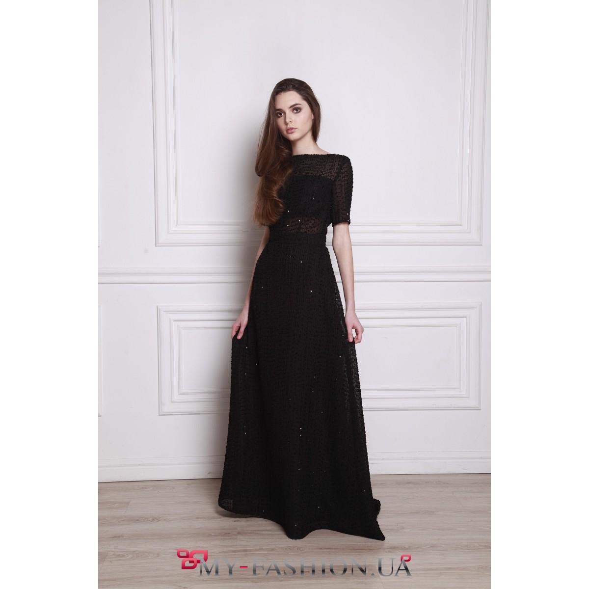 Вечернее платье с открытой спиной купить