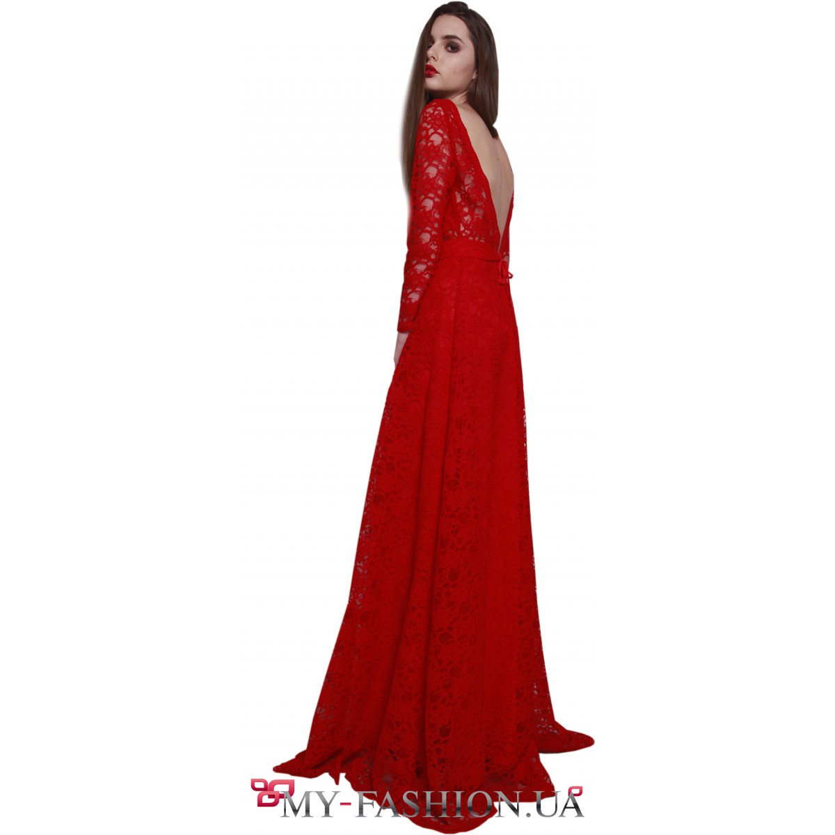 f9616b102600d5f Красное вечернее платье с открытой спиной купить в интернет магазине ...