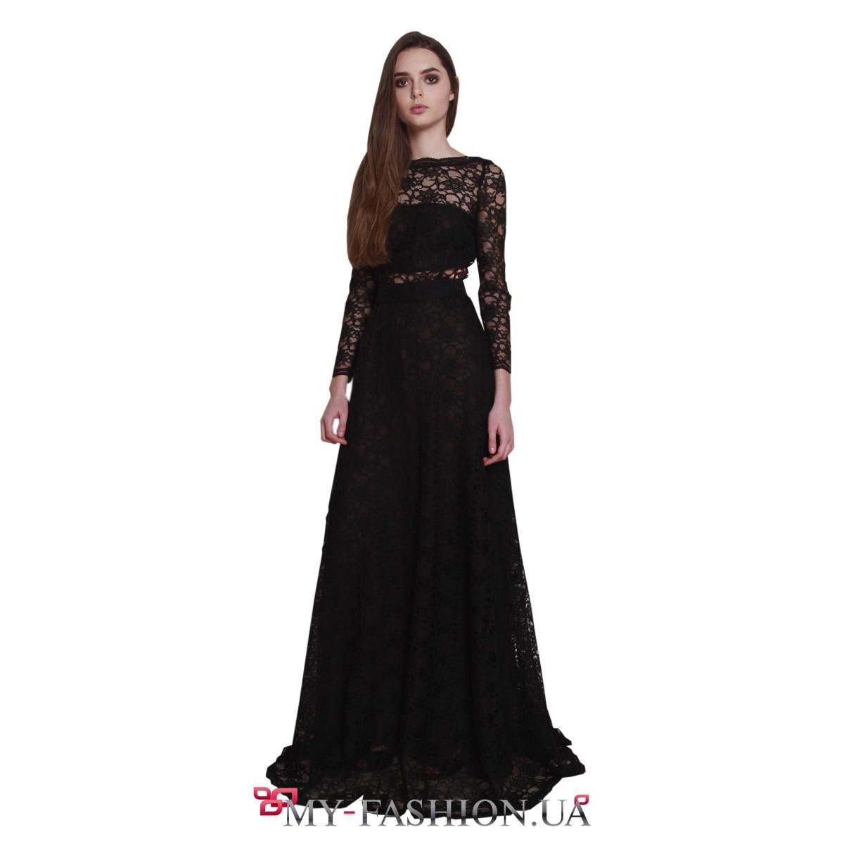 Платье черное короткое на выпускной