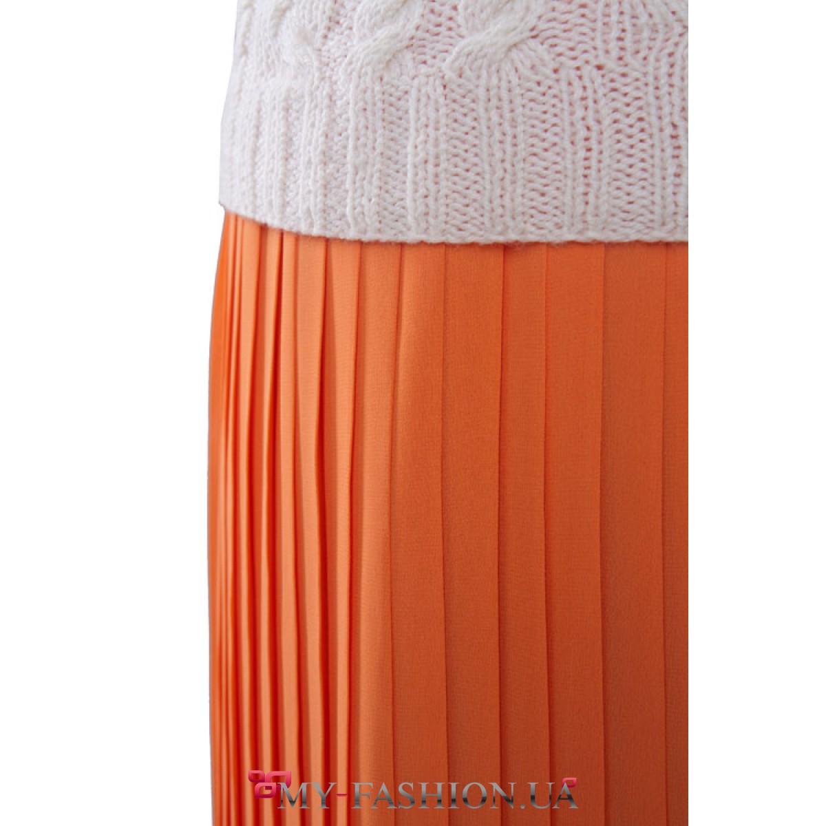 Юбка оранжевая доставка