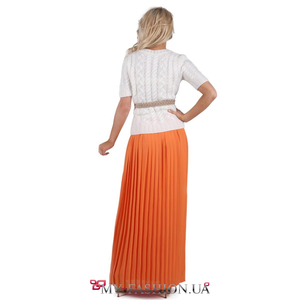 Юбка Оранжевая