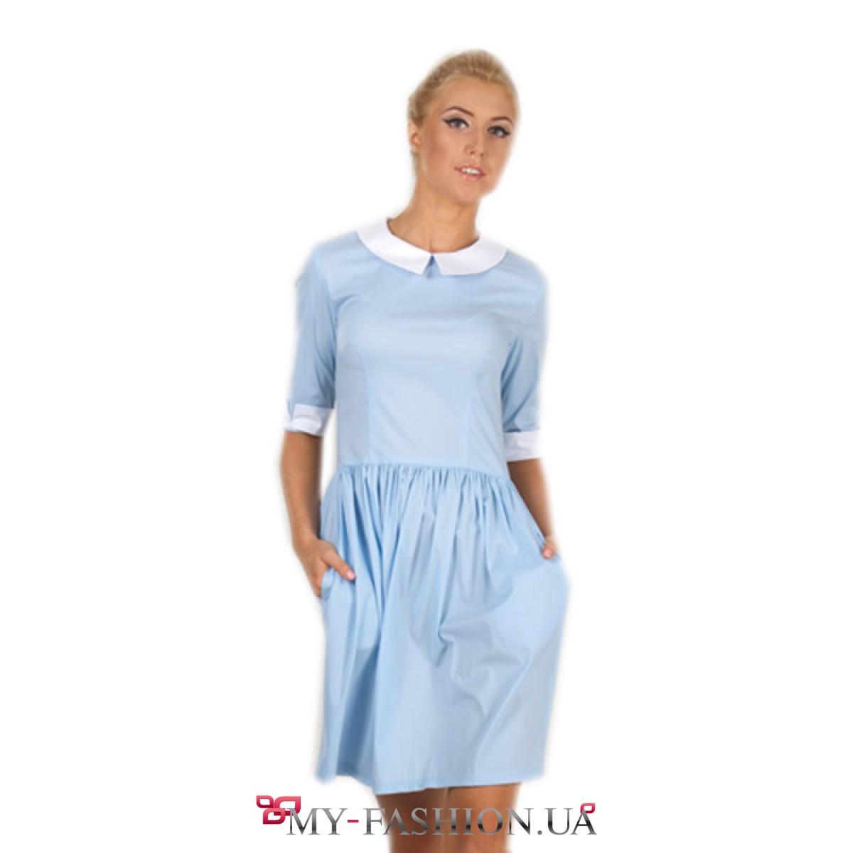 Платье с белым воротником доставка