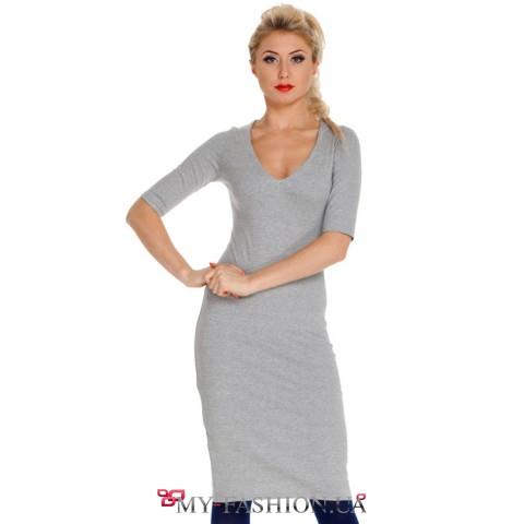 Трикотажное короткое платье
