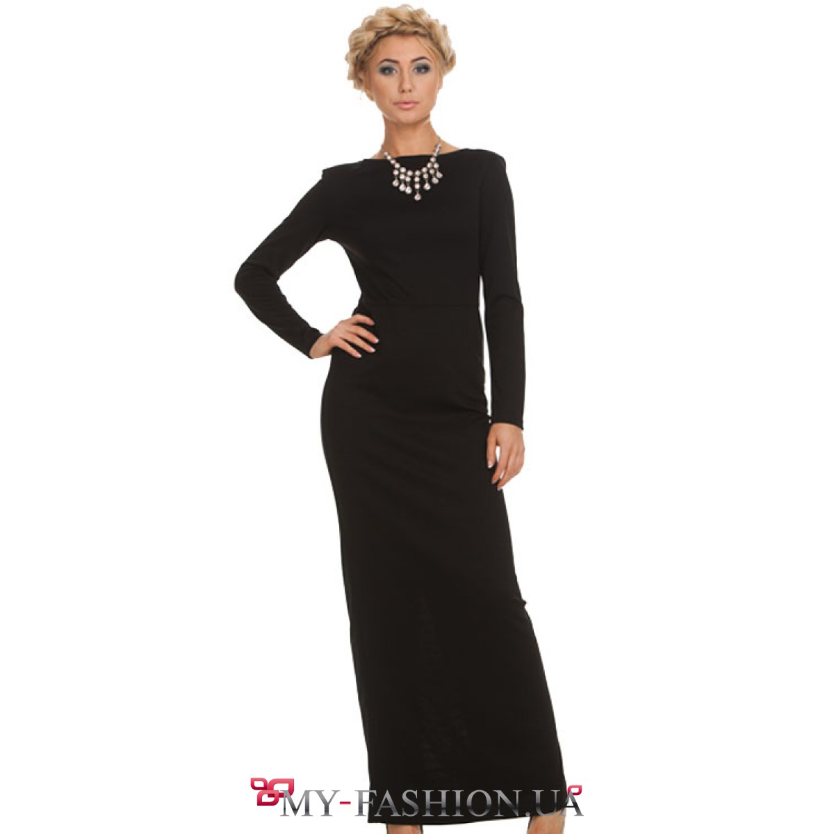 Купить длинное платье трикотажное
