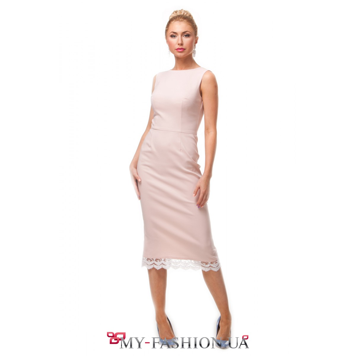 Платья с кружевным подолом фото