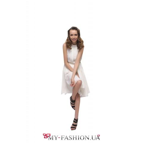 Короткое летнее платье Романтичное шифоновое