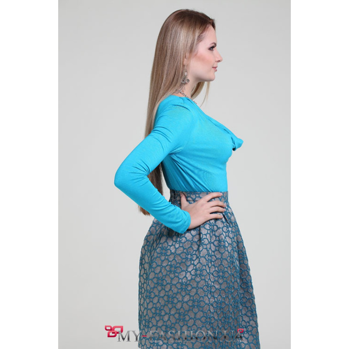 Блузка бирюзовая доставка