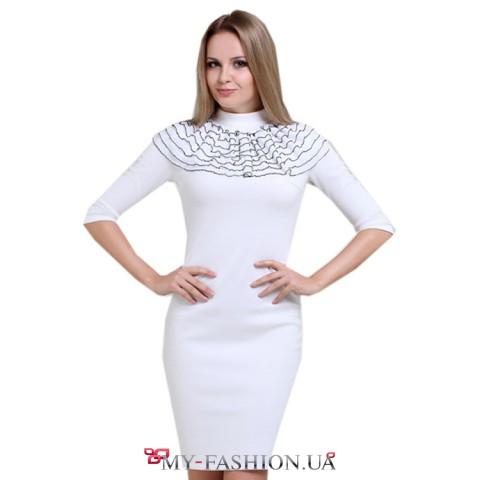 Белое платье воротник продается отдельно 350грн Nai Lu-na